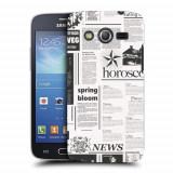 Husa Samsung Galaxy Core 4G LTE G386F Silicon Gel Tpu Model Newspaper
