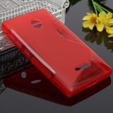 Husa Microsoft Lumia 435 Silicon Gel Tpu S-Line Rosie
