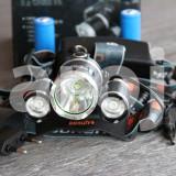 Lanterna Frontala cu 3 Leduri BORUIT T6