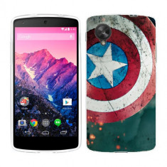 Husa LG Nexus 5 Silicon Gel Tpu Model Captain America - Husa Telefon