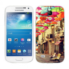 Husa Samsung Galaxy S4 Mini i9190 i9195 Silicon Gel Tpu Model Vintage Umbrella - Husa Telefon