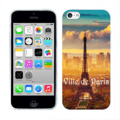 Husa iPhone 5C Silicon Gel Tpu Model Paris - Husa Telefon Apple