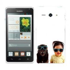 Husa Huawei Ascend Y530 Silicon Gel Tpu Model Bebelus Si Caine Ochelari De Soare - Husa Telefon