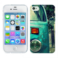 Husa iPhone 4S Silicon Gel Tpu Model Vintage Car - Husa Telefon Apple, iPhone 4/4S