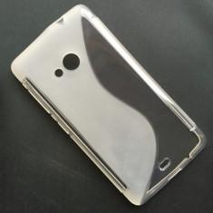 Husa Microsoft Lumia 535 Silicon Gel Tpu S-Line Alba Semitransparenta - Husa Telefon