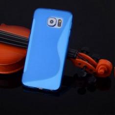 Husa Samsung Galaxy S6 Edge G925 Silicon Gel Tpu S-Line Albastra - Husa Telefon