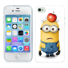 Husa iPhone 4S Silicon Gel Tpu Model Minions - Husa Telefon Apple, iPhone 4/4S