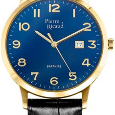 Ceas Pierre Ricaud barbatesc cod P91022.1225Q - pret 329 lei (NOU; original) - Ceas barbatesc Pierre Ricaud, Elegant, Quartz, Inox, Piele, Data