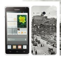 Husa Huawei Ascend Y530 Silicon Gel Tpu Model Vintage City - Husa Telefon