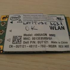 Placa de retea wireless laptop Dell Latitude D631, Intel 4965AGN, 0UT121