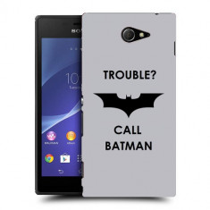 Husa SONY Xperia M2 Silicon Gel Tpu Model Batman - Husa Telefon