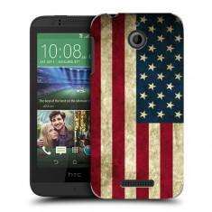 Husa HTC Desire 510 Silicon Gel Tpu Model USA Flag - Husa Telefon