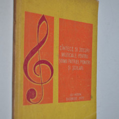 Cantece si jocuri muzicale pentru soimii patriei si scolari - 1977