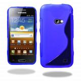Husa Samsung i8530 Galaxy Beam Silicon Gel Tpu S-Line Albastra