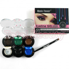Set Eyeliner Gel 6 culori Lasting Waterproof - Tus ochi