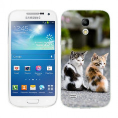 Husa Samsung Galaxy S4 Mini i9190 i9195 Silicon Gel Tpu Model Kitties - Husa Telefon