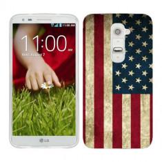 Husa LG G2 Silicon Gel Tpu Model USA Flag - Husa Telefon