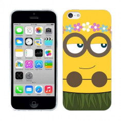 Husa iPhone 5C Silicon Gel Tpu Model Minion Girl - Husa Telefon Apple