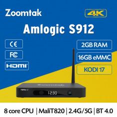 Mini PC - TV BOX Full HD, Kodi 17, S912 Octa core, 2GB DDR3+16eMMC, Android 6.0