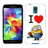 Husa Samsung Galaxy S5 G900 G901 Plus G903 Neo Silicon Gel Tpu Model I Love Minions