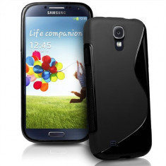 Husa Samsung i9500 Galaxy S4 Silicon Gel Tpu S-Line Neagra - Husa Telefon Samsung, Samsung Galaxy S4