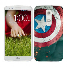 Husa LG G2 Mini Silicon Gel Tpu Model Captain America - Husa Telefon
