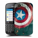 Husa BlackBerry Q10 Silicon Gel Tpu Model Captain America