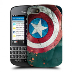 Husa BlackBerry Q10 Silicon Gel Tpu Model Captain America - Husa Telefon