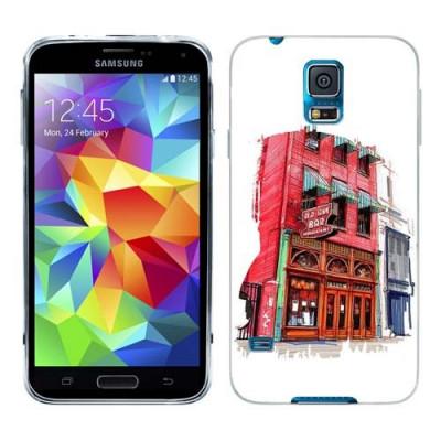 Husa Samsung Galaxy S5 Mini G800F Silicon Gel Tpu Model Old Town Bar foto
