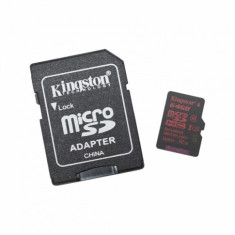Card de memorie Kingston Micro SD 64 GB Clasa 10 UHS-I U3 Adaptor SD