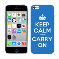 Husa iPhone 5C Silicon Gel Tpu Model Keep Calm Carry On - Husa Telefon