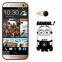 Husa HTC One Mini 2 M8 Mini Silicon Gel Tpu Model Minion Banana B&W