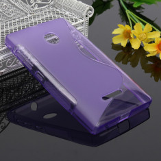 Husa Microsoft Lumia 435 Silicon Gel Tpu S-Line Mov - Husa Telefon