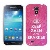 Husa Samsung Galaxy S4 i9500 i9505 Silicon Gel Tpu Model Keep Calm Sparkle