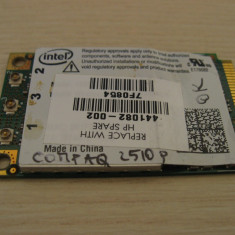 Placa de retea wireless laptop HP Compaq 2510p, Intel 4965AGN, 441082-002