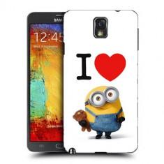 Husa Samsung Galaxy Note 3 N9000 N9005 Silicon Gel Tpu Model I Love Minions - Husa Telefon