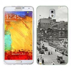 Husa Samsung Galaxy Note 3 N9000 N9005 Silicon Gel Tpu Model Vintage City - Husa Telefon