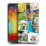 Husa Samsung Galaxy Note 3 N9000 N9005 Silicon Gel Tpu Model Puppies Collage
