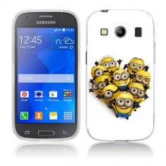 Husa Samsung Galaxy Ace 4 G357 Silicon Gel Tpu Model Minions Heart Shape - Husa Telefon