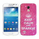 Husa Samsung Galaxy S4 Mini i9190 i9195 Silicon Gel Tpu Model Keep Calm Sparkle