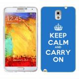 Husa Samsung Galaxy Note 3 N9000 N9005 Silicon Gel Tpu Model Keep Calm Carry On