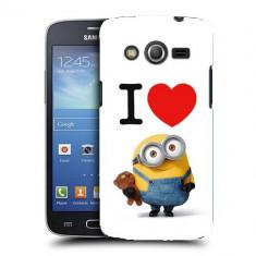 Husa Samsung Galaxy Core 4G LTE G386F Silicon Gel Tpu Model I Love Minions - Husa Telefon
