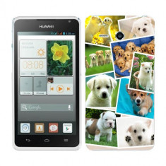 Husa Huawei Ascend Y530 Silicon Gel Tpu Model Puppies Collage - Husa Telefon