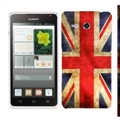 Husa Huawei Ascend Y530 Silicon Gel Tpu Model UK Flag - Husa Telefon