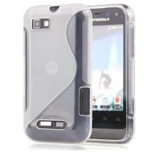 Husa Motorola Defy Mini XT320 Silicon Gel Tpu S-Line Alba Semitransparenta