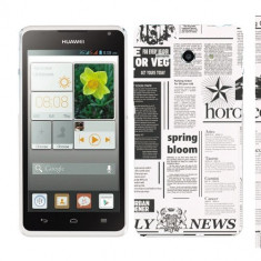 Husa Huawei Ascend Y530 Silicon Gel Tpu Model Newspaper - Husa Telefon