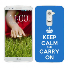Husa LG G2 Mini Silicon Gel Tpu Model Keep Calm Carry On - Husa Telefon
