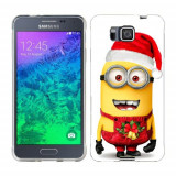 Husa Samsung Galaxy Alpha G850F Silicon Gel Tpu Model Craciun Minion Christmas