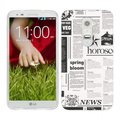 Husa LG G2 Mini Silicon Gel Tpu Model Newspaper - Husa Telefon