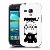 Husa Samsung Galaxy S3 Mini i8190 Silicon Gel Tpu Model Minion Banana